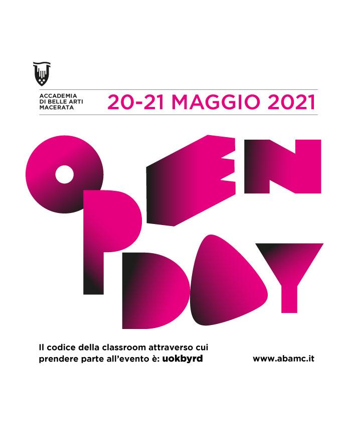 OPENDAY 20-21 MAGGIO 2021