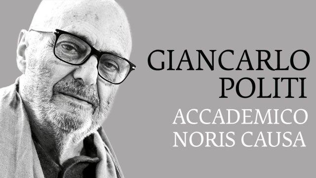 Giancarlo Politi Accademico Honoris Causa