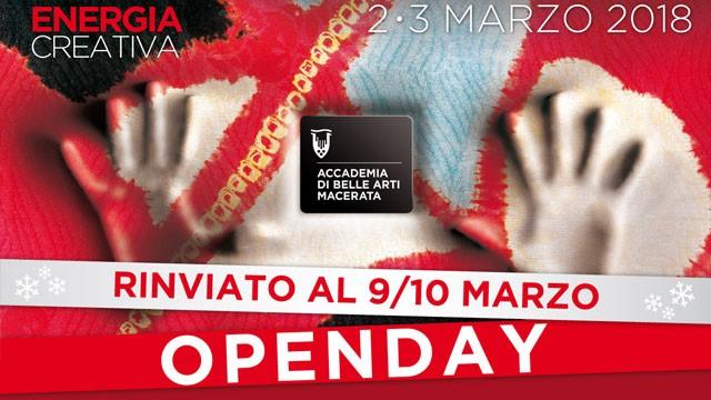 OPENDAY RINVIATO al 9/10 Marzo